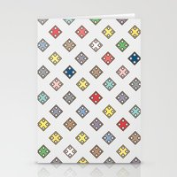Colors in the city Stationery Cards