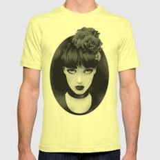Lady Mens Fitted Tee Lemon SMALL