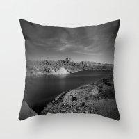 Desert Lake Throw Pillow