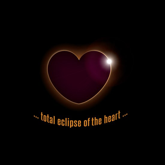 total eclipse of the heart Art Print