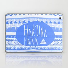 Hakuna Matata electric blue  Laptop & iPad Skin