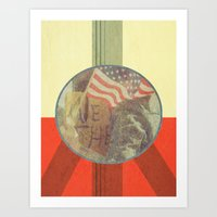 Vintage Inspired Peace Protest Poster Art Print