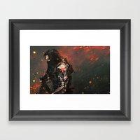 Blood In The Breeze Framed Art Print