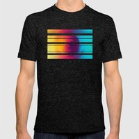 Colorful MIX Mens Fitted Tee Tri-Black SMALL