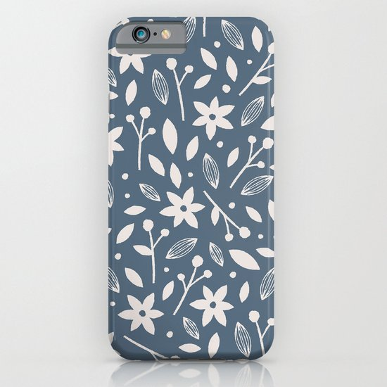 Winter Bloom - in Navy iPhone & iPod Case