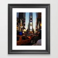 New York Streets. Framed Art Print