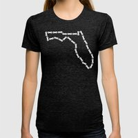 Ride Statewide - Florida Womens Fitted Tee Tri-Black SMALL