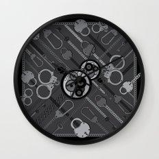 Locks & Chains Scarf Print Wall Clock