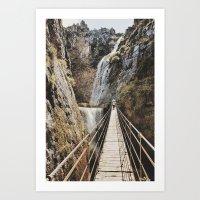 The Bridge. Retro Art Print