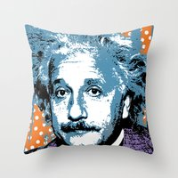 Blue Einstein Throw Pillow