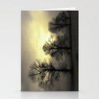 Golden Tree Landscape Stationery Cards