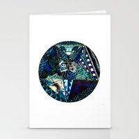 Blue Toned Pentagram Stationery Cards