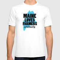 Maine Loves Farmers, Ser… Mens Fitted Tee White SMALL