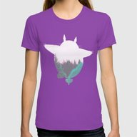 Troll Atop The Dreamland… Womens Fitted Tee Ultraviolet SMALL