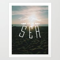 Throw Yourself Into the Sea Art Print