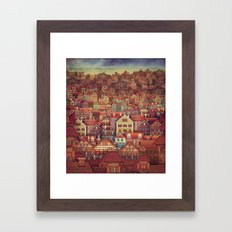 Cute City Street Scene ,… Framed Art Print