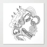Dreams In Line Canvas Print