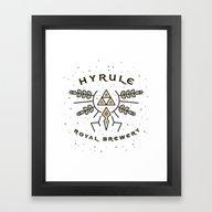 Hyrule Royal Brewery Framed Art Print