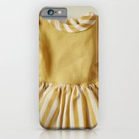 Doll Closet Series - Mustard Stripe Dress iPhone 6 Slim Case