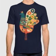 Century Hen Mens Fitted Tee Navy SMALL