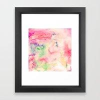 Modern Red Turquoise Pin… Framed Art Print