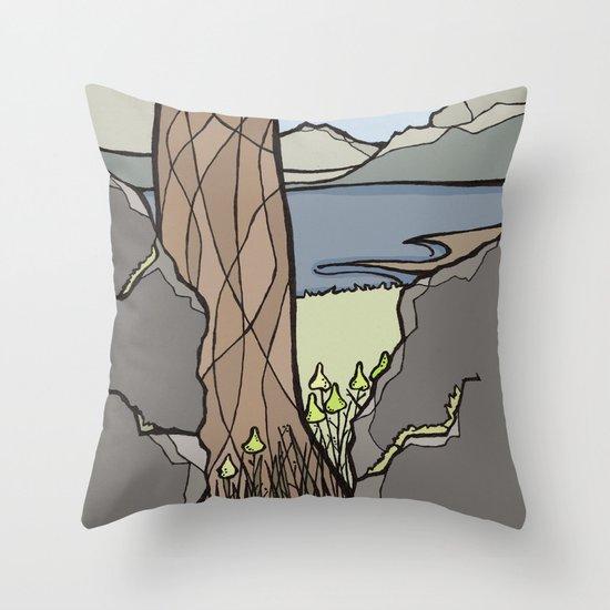 Trail Tree Throw Pillow