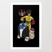 Beastie Droids Art Print