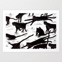 Ze Crying Katz Art Print