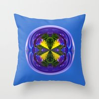 Dandy Four Abstract Glob… Throw Pillow