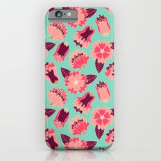 flat flowers - pattern Slim Case iPhone 6s