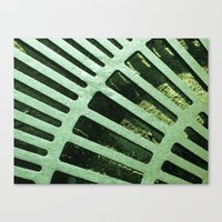 Green Grate Canvas Print