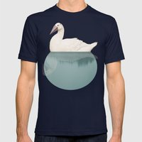 goose Mens Fitted Tee Navy SMALL