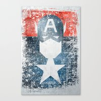 Yankee Captain Grunge Su… Canvas Print