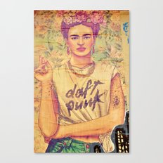 daft punk & frida Canvas Print