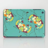 Flower hearts pattern iPad Case