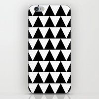 Black and White Triangle By PencilMeIn iPhone & iPod Skin