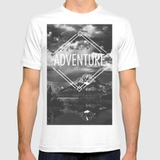 Adventure SMALL Mens Fitted Tee White