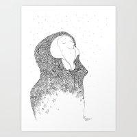 Snow, You Calm Me. Art Print