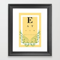 Eat Yummy Food! Framed Art Print