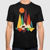 Bear In Whimsical Wild Mens Fitted Tee Tri-Black SMALL