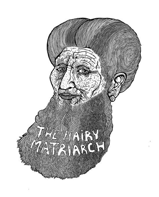 The Hairy Matriarch Art Print