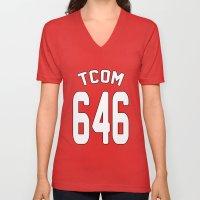 TCOM 646 AREA CODE JERSEY Unisex V-Neck