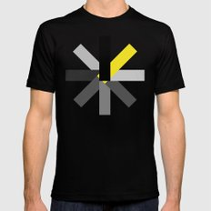 stripes o1 - design yellow SMALL Black Mens Fitted Tee