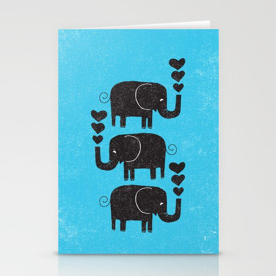 ELEPHANTS Stationery Card
