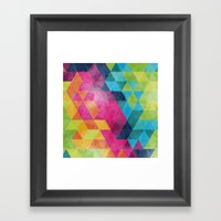 Fragmented folds Framed Art Print