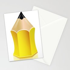 Stylized Pencil Artwork (Vector) Stationery Cards