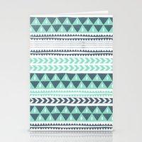 Winter Stripe Stationery Cards