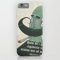 iPhone & iPod Case featuring Tar mustache by Crooked Octopus