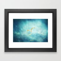 Brighton Seagulls Framed Art Print