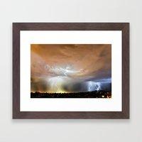 Thundering Onward Framed Art Print